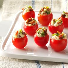 Mini BLTs Recipe -Celery adds a nice crunch to these no-fuss appetizers. The delightful nibbles are always popular at parties and get-togethers.—Elizabeth Borgemenke, Mason, Ohio