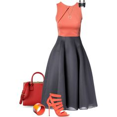 """""""Coral Top"""" by quirkyoak on Polyvore"""