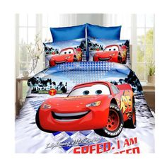new Lightning McQueen Cars bed linens bedding set single size boy's duvet/quilt cover Child home decor new bedclothes cartoon Boys Bedding Sets, Girls Duvet Covers, Toddler Girl Bedding Sets, Duvet Cover Sets, Set Cover, Cover Pillow, Pillow Cases, Quilt Cover, Comforter Cover