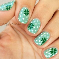It's time to get your St. Patrick's Day on! We have found 66 of the Best St. Patrick's Day Nail Art for you to enjoy below. When it come's to St. Patrick's Day, you think of the color green so many of these designs below feature that as a main color.