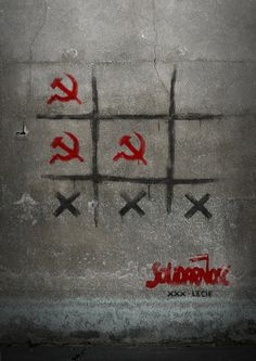 The solidarność logo is one of my favorite things in the world. NOTE the XXX means in Roman 30 = 30 Years jubilee Poland Street, Activist Art, Graffiti, Good Old Times, Artistic Installation, Green Theme, Stencil Art, Street Artists, Urban Art