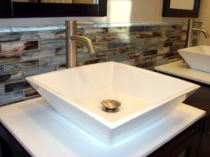 diy bathroom backsplash ideas brick Bathroom Remodel Pinterest