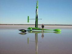 Greenbird, wind powered vehicle breaks speed record