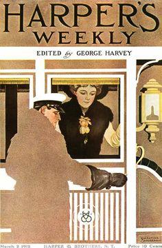 March 2, 1912 ~  Artist: Valentine Sandberg - a Coles Phillips copycat