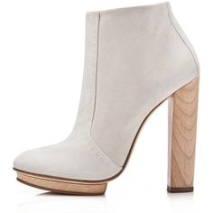Dear Frances - Arch Boot ($330) ❤ liked on Polyvore featuring shoes, boots, ankle booties, heels, heel boots, wood heel booties, block heel boots, heeled ankle boots and platform heel boots