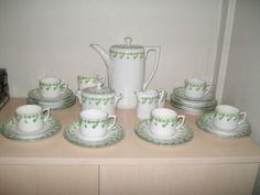 Schönes sehr altes Kaffeeservice grünes Kleeblatt CT Carl Tielsch Altwasser | eBay
