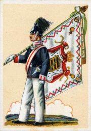 Fahne Kgl. Sächs. 1.(Leib-) Grenadier-Regiment Nr.100, I.Bataillon, Vorderseite