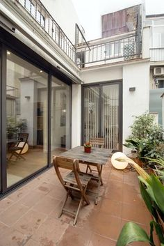 #Terrace in an apartment in an old industrial building in Poblenou, #Barcelona.