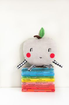 'Happy Apple' mini cushion   £15.00