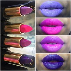 Who doesn't love new lippies!!  colouredraine Lipsticks 1:vvs lip synch 2:Monroe 3:x-pose. 4: Arabian night