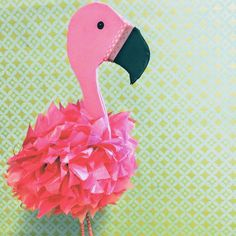 Flamingo Craft, Flamingo Party, Projects For Kids, Diy For Kids, Crafts For Kids, Pink Bird, Tropical Party, Valentine Box, Diy Box
