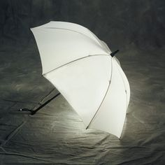 Just White Lighted Umbrella