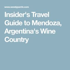 Where to stay, what to do, and most important, what to drink in Mendoza, Argentina's wine country. Mendoza, Wine Country, Travel Guide, Drink, Travel, Argentina, America, Beverage, Travel Guide Books