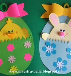 Easter egg (chick and bunny) pocket cards