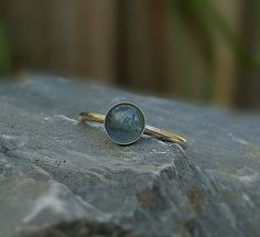 Indicolite Ring,Blue Tourmaline Ring,Tourmaline Ring,Blue Tourmaline,Indicolite,Tourmaline Jewelry,October Birthstone,Tourmaline Slice by INNOCENTIJEWELRY on Etsy