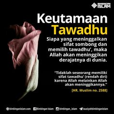 Keutamaan Tawadhu Islamic Qoutes, Islamic Messages, Muslim Quotes, Islamic Inspirational Quotes, Muslim Religion, All About Islam, Learn Islam, Prayer Verses, Self Reminder
