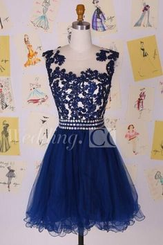 $68.25-Elegant Illusion Cap Sleeve Ink Blue Lace Homecoming Dress 2016. http://www.doriswedding.com/elegant-illusion-cap-sleeve-short-cocktail-dress-with-appliques-beadings-p319389.html. DorisWedding has all the homecoming dresses you need to look glamorous for your back to school. Amazing collection of all styles short dresses for #homecoming. Find the best homecoming dress for under $100! #DorisWedding.com