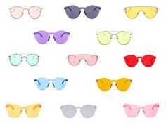 """""""Oh Shay Colored Glasses"""" by ohshayshop on Polyvore"""