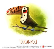 Daily Paint 1471. Toucannoli by Cryptid-Creations