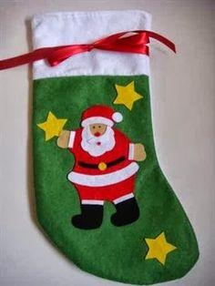 Noel Baba Süsü Noel Baba Çorabı, El yapımı Yılbaşı Hediyesi http://www.hediyepaketim.com/?urun-9381-noel-baba-corabi--el-yapimi-yilbasi-hediyesi