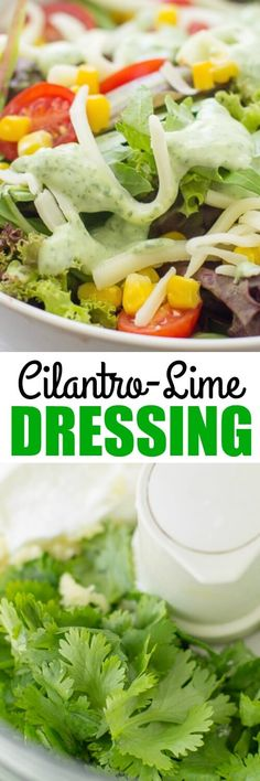 An easy, creamy cilantro lime dressing made with Greek yogurt! So good you'll want to eat it with a spoon. Guaranteed to brighten up any salad! Pinned over 64,100 times!