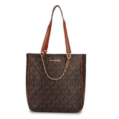 Just $55...Michael Kors Harper Logo Medium Coffee Totes