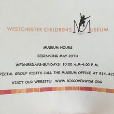 Your kids will want to skip the beach and play at the Westchester Children's Museum. :-) @discoverwcm