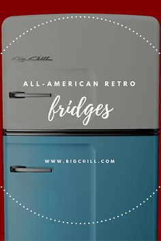 Retro Refrigerators -Big Chill are on a mission to make the refrigerator more stylish. Bold, innovative and modern made American classics. #Retro #Kitchen