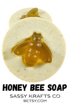 Yummy honey soap bars with ground colloidal oatmeal, honey and calendula. Gentle soap for sensitive or upset skin!.  Honey Sassy Krafts Co Handmade Artisan Soaps US Ships Free!  #sensitiveskin#dryskin#naturalskincare#skincareaddict#sassykraftsco#soapmaker#skinhealth#coldprocesssoap#honeysoap#beepollen#honeybee#beelover#bees#honeybees Turmeric Soap, Tea Tree Soap, Acne Soap, Soap For Sensitive Skin, Charcoal Soap, Shea Butter Soap, Calendula, Diy Skin Care, Skin So Soft