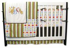 ABC Dr. Seuss 4 piece crib bedding set