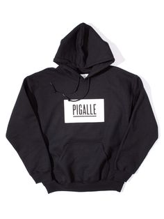 Pigalle, Classic Box Logo Hoodie (Black)