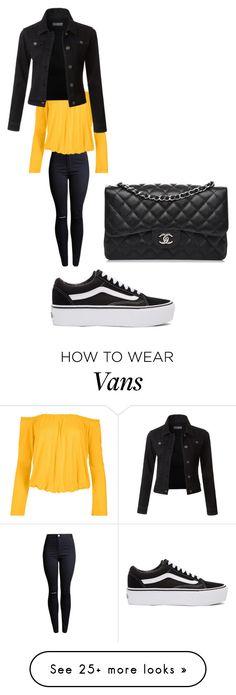 """""""Untitled #9771"""" by lover5sos on Polyvore featuring Venus, Vans, LE3NO, Chanel and plus size clothing"""