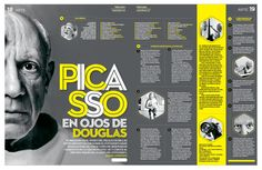 Picasso Yearbook Design Layout, Yearbook Layouts, Graphic Design Layouts, Graphic Design Posters, Typography Design, Yearbook Spreads, Yearbook Covers, Yearbook Ideas, Editorial Design Magazine