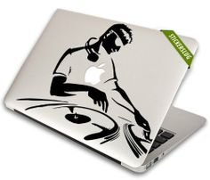 Turntable Techno DJ Decal for Apple Macbook Air Pro (select model) Available in 18 colors! $11.30