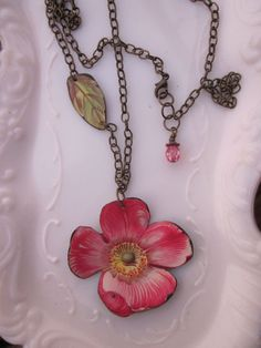 Tin Necklace Bright Bloom Tin for the Ten Year by TheMadCutter, $31.00