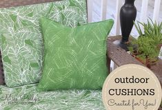 Get your outdoor living space ready for spring with our latest selection of outdoor fabrics in the size that you need! Glider Rocker Cushions, Rocking Chair Cushions, Outdoor Chair Cushions, Bench Cushions, Foam Cushions, Outdoor Fabric, Window Seat Cushions, Custom Cushions, Box Cushion