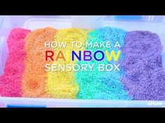 An easy-to-make rainbow sensory box for kids to play, explore and learn. A fun DIY project that engages nearly all the senses.