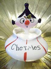 Vintage Holt Howard Pixie Elf Cherries Cherry Jar Pixieware w/ Spoon Figurine