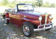 1949 Jeepster overland Vintage Trucks, Old Trucks, Jeepster Commando, Cool Old Cars, Dream Garage, Car Car, Roads, Antique Cars, Classic Cars