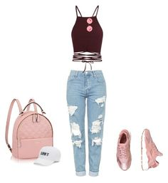 """A day in the city"" by puneh-kuchak-1 on Polyvore featuring Topshop, NIKE, Ray-Ban and SO"