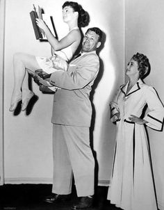 Debbie Reynolds (b. April 1, 1932), Bert Goodrich, Jane Powell (b. April 1, 1929) --- Athena (1954)