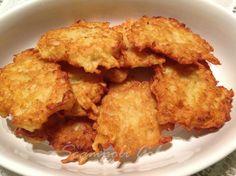 Ed ecco sperimentate le frittelle di patate alle cipolle. BUONISSIME! Provare per credere