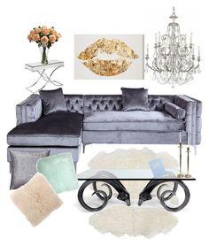 """shades of grey"" by niamartin07 on Polyvore featuring interior, interiors, interior design, home, home decor, interior decorating, Jonathan Adler, Swarovski, Pillow Decor and kikki.K"