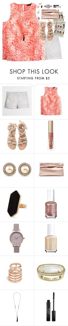 """""""This Set Stressed Me Out"""" by southernstylish ❤ liked on Polyvore featuring J.Crew, Elina Linardaki, Carolee, Marie Turnor, Jaeger, Essie, Olivia Burton, GUESS, Kendra Scott and Stila"""