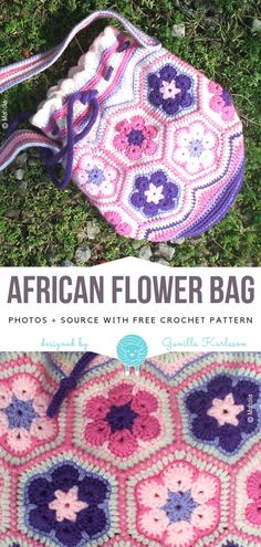 Advertisements We all know that a bag is the ultimate accessory. The Bag can completely change the outfit! Today's collection features hottest projects of Crochet Drawstring Bags. Crochet Applique Patterns Free, Bag Pattern Free, Pouch Pattern, Bag Patterns To Sew, Free Crochet, Sewing Patterns, Crochet Drawstring Bag, Drawstring Bags, Crochet African Flowers