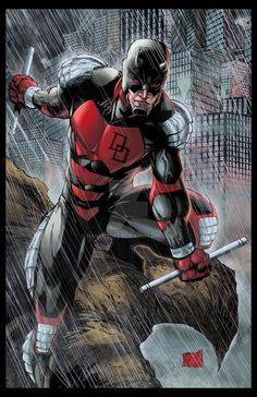 Armored Daredevil Colored by hanzozuken