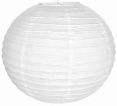 "6"" White Color Chinese Japanese Paper Lantern expanding with a metal frame is available on great discount at Just Artifacts. We are one of the largest online decor stores."