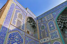 Blue tiles of Sheikh Lotfollah mosque, Isfahan http://www.flickr.com/photos/52471879@N08/14158401208