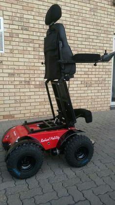 Standing Predator Power Wheelchair by Radical Mobility Stand Power, Quadriplegic, Powered Wheelchair, Wheelchairs, Predator, Outdoor Power Equipment, 4x4, Future, Ideas
