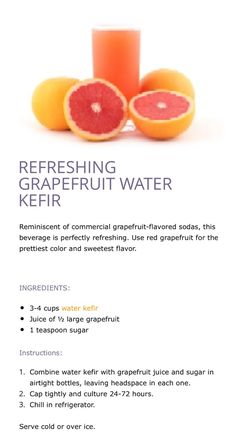 REFRESHING GRAPEFRUIT WATER KEFIR